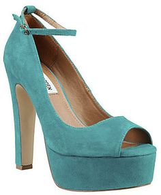 Some of my favorite Steve Madden shoes. #pumps #platforms #heels #style #fashion #teal