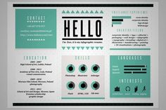 Cool Resume & CV Designs