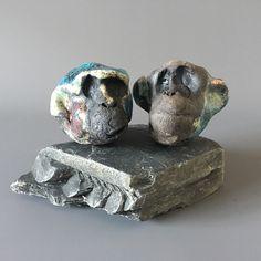 Cathy Butcher #ceramics #monkeys #raku