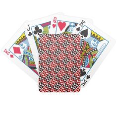 Red & Brown Domino Design Bicycle Playing Cards
