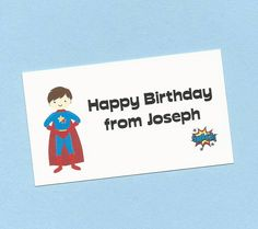 Super Hero Boy Calling Cards - Choose Your SuperHero - SuperHero Favor Tags, Superheroes Gift Enclosures Cards, Super Heroes Treat Bag Tags by CardsByKooper on Etsy