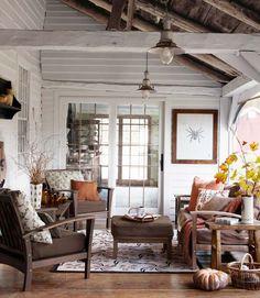 Rustic Enclosed Porch...