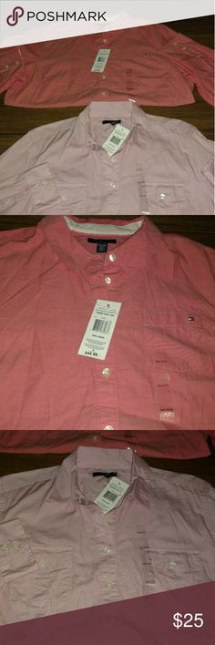Tommy Hilfiger shirts new with tags Never wore size xxl . Tommy Hilfiger Tops Button Down Shirts