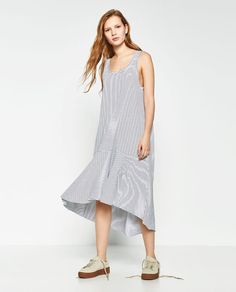 Image 1 of LONG FRILLED DRESS from Zara