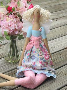 Fairy doll Cloth doll Rag doll Guardian Angel doll fabric