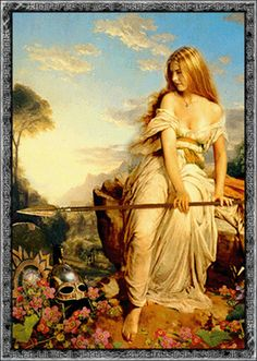 NANNA - she is the ASYNJUR goddess of joy and peace. She is a wife of BALDR. NANNA is also the Norse goddess of the moon. She dies of a broken heart after BALDR is killed because of LOKI's treachery.