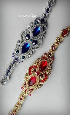 Soutache Bracelet, Swarovski Bracelet, Soutache Jewelry, Boho Jewelry, Gemstone Jewelry, Beaded Jewelry, Handmade Jewelry, Beaded Necklace, Fashion Jewelry