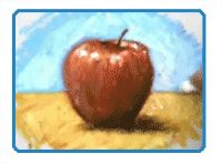 How to draw an apple with oil pastels. Looks easy!