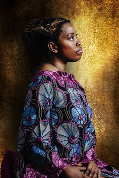 Photographer Joana Choumali resolved to document young, contemporary African women and their relationships to past generations. Christelle Ahouefa Beninese is from the Popo tribe.