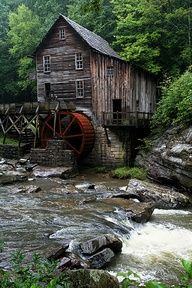 Like the water wheel at the Madewood Farm