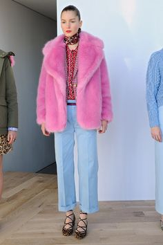 We didn't know how bad we needed a pink fur coat in our lives.
