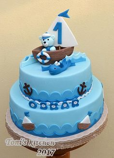 Children's blue sea cake by Toni's cakes
