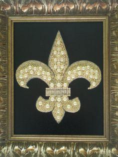 Mothers Day Sale-Jeweled Fleur De Lis Art by MissigirlDesigns