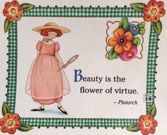 Beauty- Handmade Fridge Magnet-Mary Engelbreit Artwork