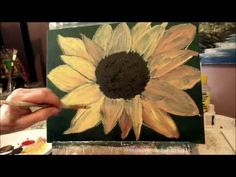 How to paint a SUNFLOWER with acrylic paint Lesson 2, step by step - YouTube