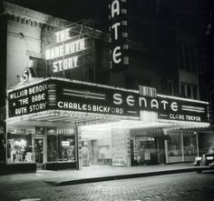 Springfield, IL. The Senate Theater 1948. Courtesy of Springfield Rewind and Sangamon Valley Archives.