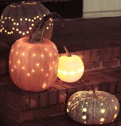 Drill Pumpkins #FallDecor #OutdoorDecor #Fall