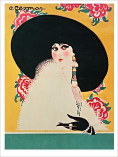 Yvonne Legeay - Affiche d'Art de la collection vintage de Slap!