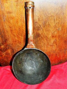 Rare Primitive Serving Soup Broth Spoon Persian by TheIDconnection, $75.00