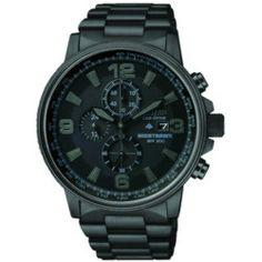 Ben Moss Jewellers Citizen Eco-Drive CA0295-58E, Mens Nighthawk, Stainless Steel Watch