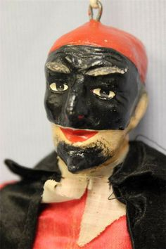 "10.5"" Early Pantalone Puppet Doll c1890 Commedia dell'Arte ITALY, All Original"