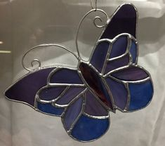 Butterfly, Purple Butterfly, Stained Glass Butterfly. Hand made.