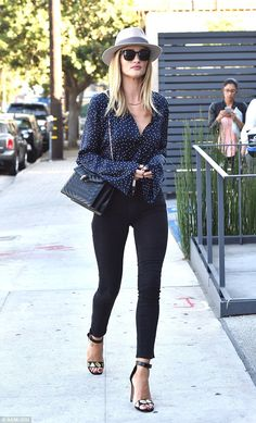 Gorgeous: Rosie was later seen looking stylish while leaving an office in West Hollywood ...