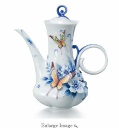 Our Franz Porcelain Forever Wedding Butterfly Teapot makes a stunning centerpiece to any coffee or tea service.