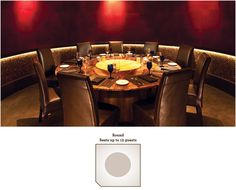 Uptown Dallas Location – Round Room, Seats up to 12 guests Private Dining Room, Wine Wall, Personalized Wine, Fine Dining, Dallas, Restaurants, Table Settings, Diners, Table Top Decorations