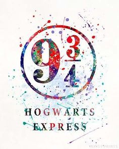 Hogwarts Express, Harry Potter Watercolor Print. Prices from $9.95. Available at InkistPrints.com - #harrypotter #christmasgift #dormdecor #wallart #giftforhim #HogwartsExpress