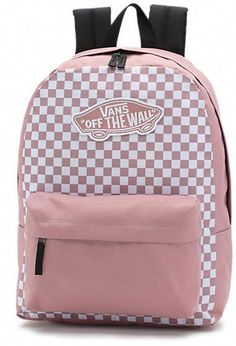 backpacks The Realm Checks Backpack is a polyester two-pocket backpack featuring a zippered main compartment with an interior laptop sleeve, a front pocket with organization, and Vans School Bags, Cute School Bags, Vans Bags, Cute Backpacks For School, Cute Mini Backpacks, College Backpacks, Cool Backpacks For Girls, College Bags, Girl Backpacks