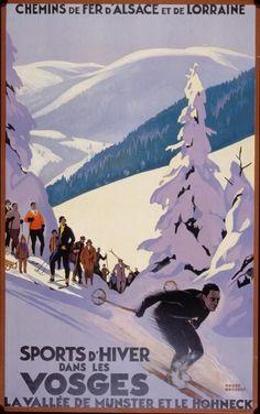 Sports d'Hiver dans Les Vosges - Chemin de Fer d'Alsace et de Lorraine poster