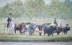 Faenas  de campo Log Homes, Horses, Painting, Dibujo, Pintura, Art, Beef Cattle, Timber Homes, Wood Homes
