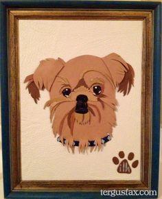 Custom leather portrait of your favorite pet! tergusfax.com