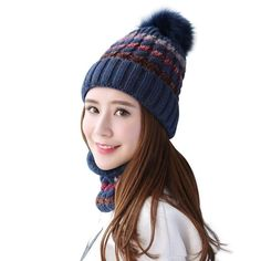 4555b64ccae (eBay link) Home Prefer Womens Girls Winter Knit Hat and Scarf Set Warm  Beanie