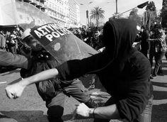 #riot #police #hit