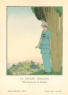 """A.E. Marty, """"La Soiree Toscane"""", Gazette du Bon Ton No. 12, 1913."""