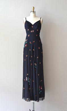 Modinha silk maxi dress vintage 1930s maxi dress by DearGolden