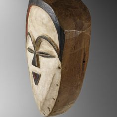 """""""Vuvi"""" mask from Gabon early XX ex French's collection   Virtual Tribal and Textile Art Shows French Collection, African Art, Textile Art, Art Gallery, Statue, Antiques, Antiquities, Art Museum, Antique"""