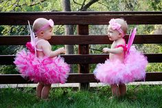 Pink Sugar Fairy Tutu Set, Petti Tutu, Set, Fairy Wings, Baby Tutu, Toddler Tutus, Girls Petti tutus. $54.95, via Etsy.