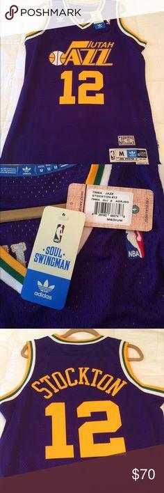premium selection 57195 f62a7 utah jazz 12 john stockton mountain white throwback swingman ...