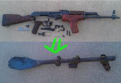 DIY & I+D. Convertir una AK-47 en cucharón.
