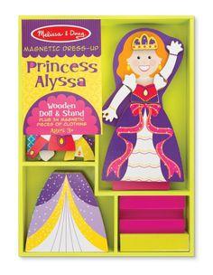 Melissa & Doug Princess Alyssa Wooden Magnetic Dress-Up Set 5161 #MelissaDoug