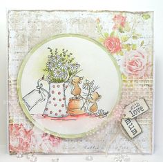 Using Delightful Daisies and sentiment tags. Papers by Anna Marie Designs