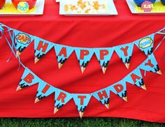 HERO Party - Happy Birthday BANNER - Comic Party - Super Hero Party