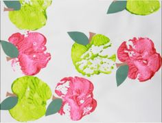 Apple Prints Preschool Art Project