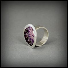 Heather melancholy ring by ANDjewelleryDesign on Etsy