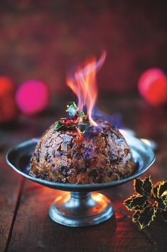 Christmas Pudding Dried Fruit, Pecans, Ginger, Rosemary, Bourbon & Golden Syrup - The Happy Foodie