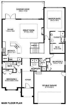 Plan No.195336 House Plans by WestHomePlanners.com