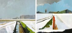 Paintings of the Fens by Fred Ingrams, via Miss Moss